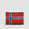 Norwegian Flag - Pouch Bag - airportag  - 6