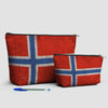 Norwegian Flag - Pouch Bag - airportag  - 3