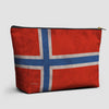 Norwegian Flag - Pouch Bag - airportag  - 1