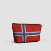 Norwegian Flag - Pouch Bag - airportag  - 2