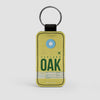 OAK - Leather Keychain - Airportag