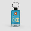 OKC - Leather Keychain - Airportag