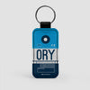 ORY - Leather Keychain - Airportag