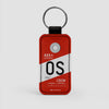 OS - Leather Keychain - Airportag