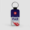 PAR - Leather Keychain - Airportag