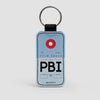 PBI - Leather Keychain - Airportag
