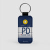 PD - Leather Keychain