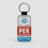 PEK - Leather Keychain - Airportag