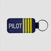 Pilot's Insignia  - Leather Keychain - Airportag
