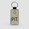 PIT - Leather Keychain - Airportag