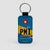 PMI - Leather Keychain