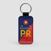PR - Leather Keychain - Airportag