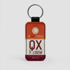 QX - Leather Keychain - Airportag