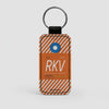 RKV - Leather Keychain - Airportag