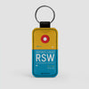 RSW - Leather Keychain