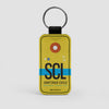 SCL - Leather Keychain - Airportag
