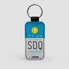 SDQ - Leather Keychain