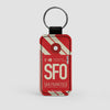 SFO - Leather Keychain