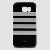 Black Pilot Stripes Silver - Phone Case