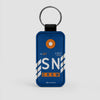 SN - Leather Keychain - Airportag