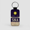 SNA - Leather Keychain - Airportag