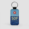 SOF - Leather Keychain - Airportag
