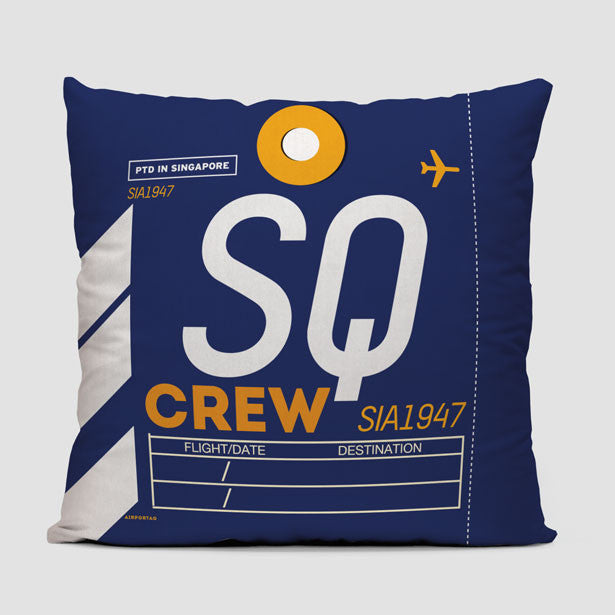 SQ Throw Pillow Airportag