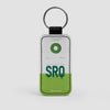 SRQ - Leather Keychain - Airportag