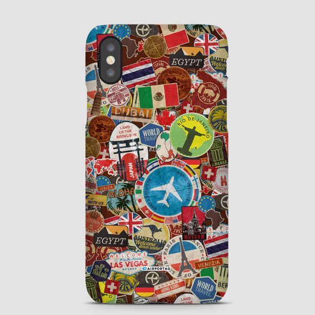 Mobile Phone cases inspired by airport codes, boarding passes and more