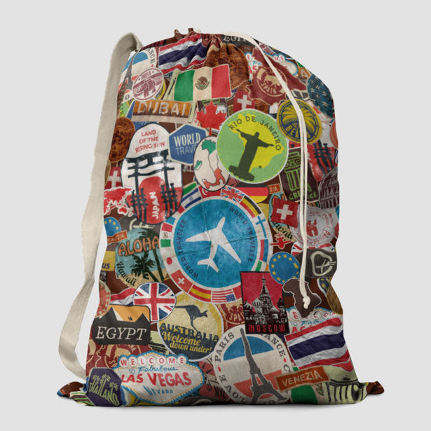 travel stickers laundry bag airportag