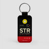STR - Leather Keychain