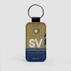SV - Leather Keychain - Airportag