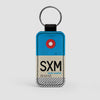 SXM - Leather Keychain - Airportag