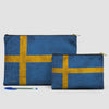 Swedish Flag - Pouch Bag - airportag  - 6