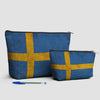 Swedish Flag - Pouch Bag - airportag  - 3