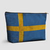 Swedish Flag - Pouch Bag - airportag  - 1