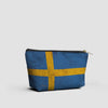 Swedish Flag - Pouch Bag - airportag  - 2