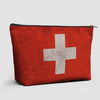 Switzerland Flag - Pouch Bag - airportag  - 1