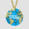 Take Me - World Map - Ornament