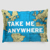 Take Me - World Map - Pillow Sham