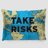 Take Risks - World Map - Pillow Sham