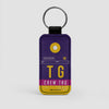 TG - Leather Keychain - Airportag