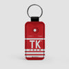 TK - Leather Keychain - Airportag