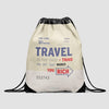 Travel is - Old Tag - Drawstring Bag - Airportag
