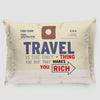 Travel is - Old Tag - Pillow Sham