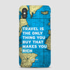 Travel is - World Map - Phone Case