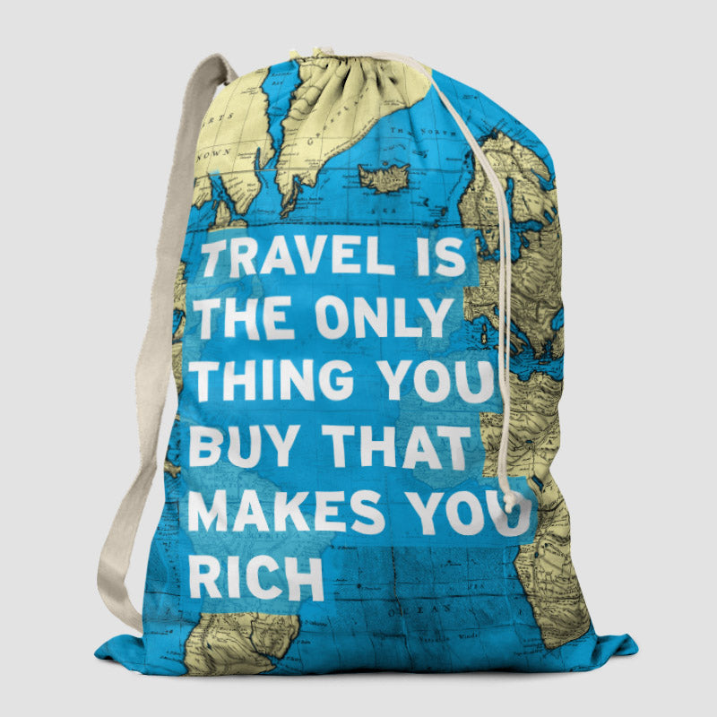 Travel is world map laundry bag airportag travel is world map laundry bag gumiabroncs Images