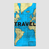 Travel - World Map - Beach Towel - Airportag