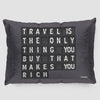 Travel FlightBoard - Pillow Sham