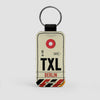 TXL - Leather Keychain - Airportag